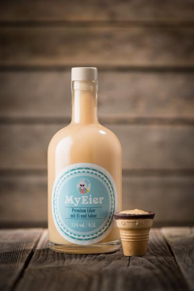 MyEier 0,5L Korkflasche - Leuchtversion